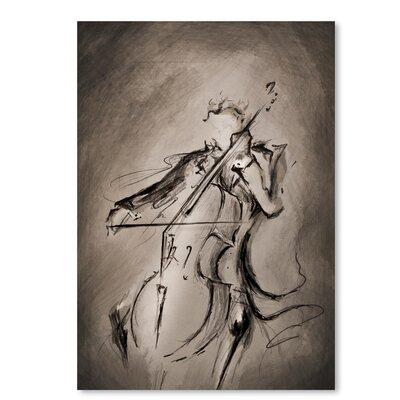 Americanflat The Cellist 1' by Marc Allante Art Print