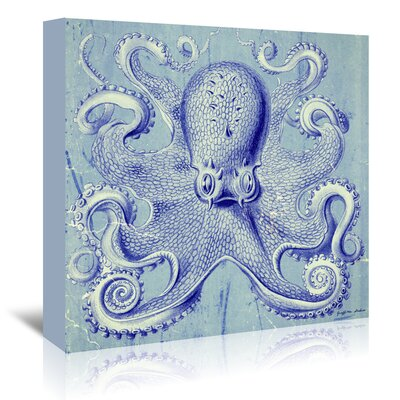 Americanflat Octopus I' by Graffi Tee Studios Graphic Art Wrapped on Canvas