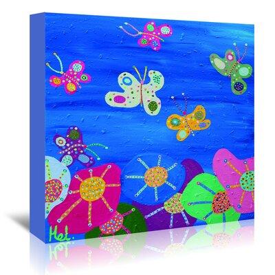 Americanflat 'Butterflies Garden' by Helen Joynson Art Print Wrapped on Canvas