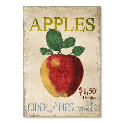 Americanflat Apples, Cider & Pies' by Advocate Art Vintage Advertisement