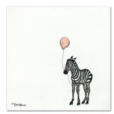 Americanflat 'Nursery Zebra' by Britt Hallowell Art Print