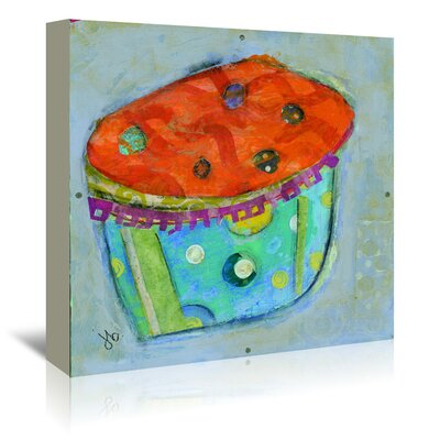 Americanflat 'Cupcake I (Orange Icing)' by Julie Beyer Art Print Wrapped on Canvas