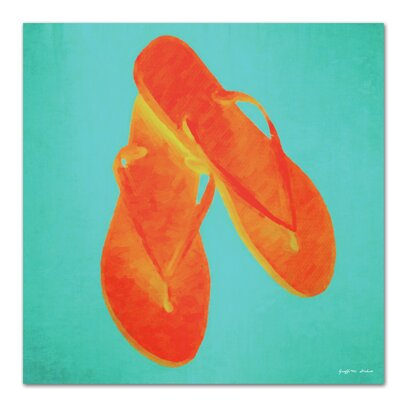 Americanflat 'Flip Flops So Fly' by Graffi Tee Studios Art Print