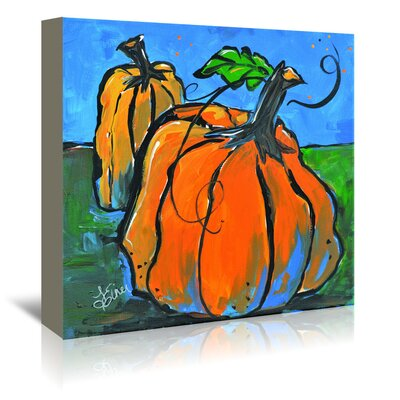 Americanflat 'Pumpkins at Twilight' by Terri Einer Art Print Wrapped on Canvas