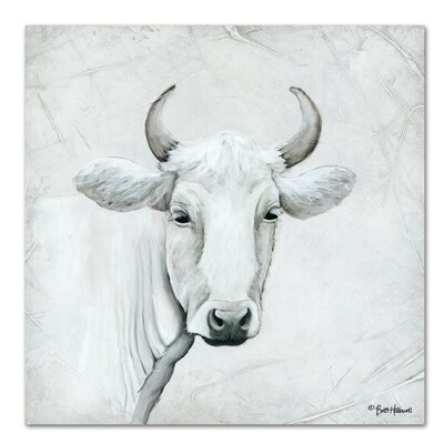 Americanflat January Cow I' by Britt Hallowell Art Print