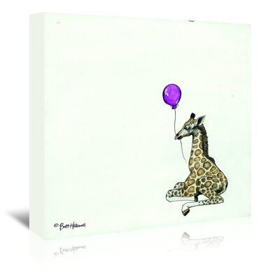 Americanflat 'Nursery Giraffe' by Britt Hallowell Art Print Wrapped on Canvas