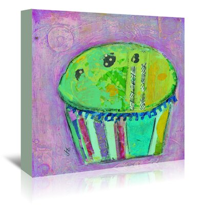 Americanflat 'Cupcake II (Green Icing)' by Julie Beyer Art Print Wrapped on Canvas