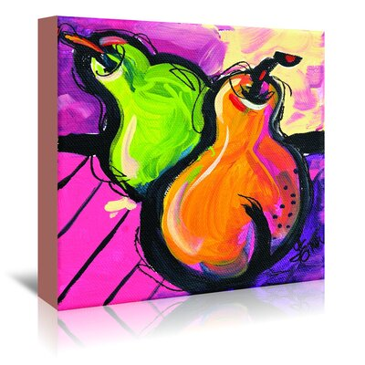 Americanflat 'Zany Pears' by Terri Einer Art Print Wrapped on Canvas