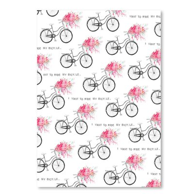 Americanflat 'I Want to Ride My Bicycle' by Advocate Art Graphic Art