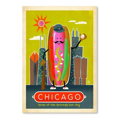 Americanflat ASA-NP-Chicago Hot Dog' by Joel Anderson Vintage Advertisement