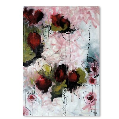 Americanflat 'Eruptus Floral' by Annie Rodrigue Art Print