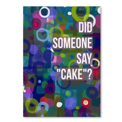 Americanflat Did Cake' by Marian Nixon Graphic Art