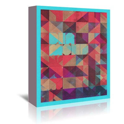 Americanflat Risograph #1 Diamond' by Spires Graphic Art Wrapped on Canvas