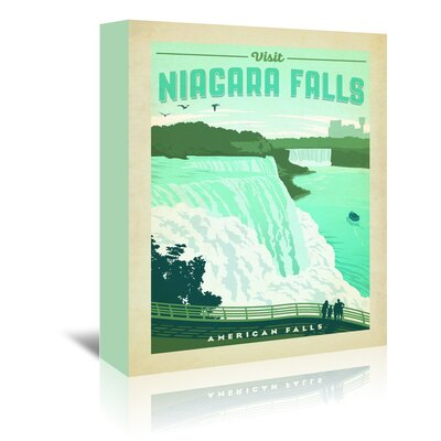 Americanflat 'ASA-NP-Niagra' by Joel Anderson Vintage Advertisement Wrapped on Canvas