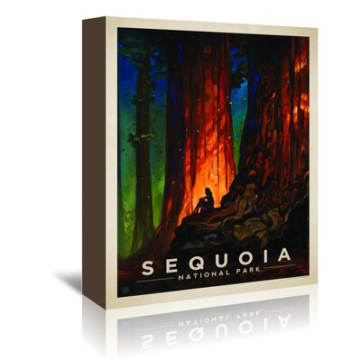 Americanflat KC NP Sequoia' by Joel Anderson Vintage Advertisement Wrapped on Canvas