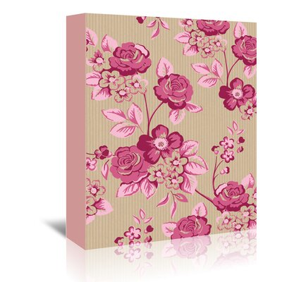 Americanflat Pink Floral' by Advocate Art Graphic Art Wrapped on Canvas