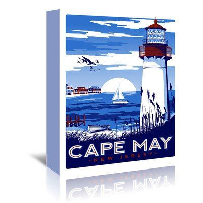Americanflat Capemay' by Matthew Schnepf Vintage Advertisement Wrapped on Canvas