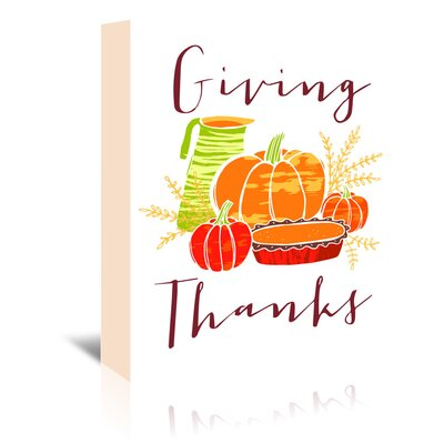 Americanflat 'Giving Thanks' by Advocate Art Graphic Art Wrapped on Canvas