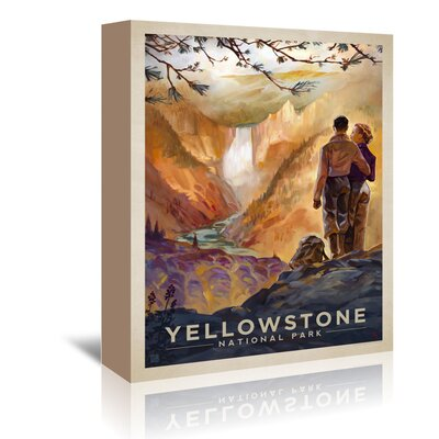 Americanflat KC NP Yellowstone2' by Joel Anderson Vintage Advertisement Wrapped on Canvas