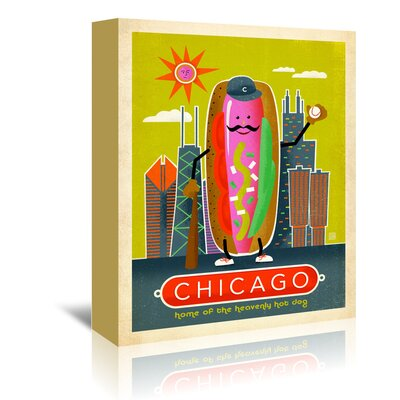 Americanflat 'ASA-NP-Chicago Hot Dog' by Joel Anderson Vintage Advertisement Wrapped on Canvas