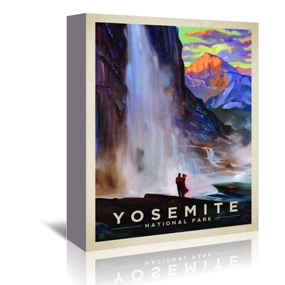 Americanflat 'KC NP Yosemite Falls' by Joel Anderson Vintage Advertisement Wrapped on Canvas