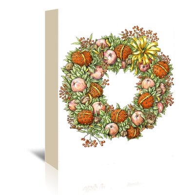 Americanflat Holiday Wreath' by Advocate Art Graphic Art Wrapped on Canvas