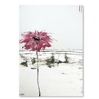 Americanflat 'Fleur Rose 1' by Annie Rodrigue Art Print