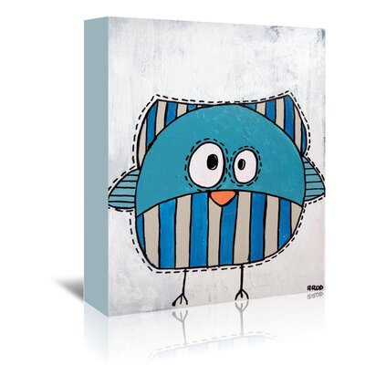 Americanflat 'Blue Birdk 2' by Annie Rodrigue Art Print Wrapped on Canvas