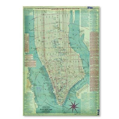 Americanflat Map of Manhattan' by Graffi Tee Studios Graphic Art