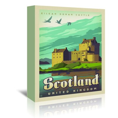 Americanflat 'WT ScotlandCastle' by Joel Anderson Vintage Advertisement Wrapped on Canvas