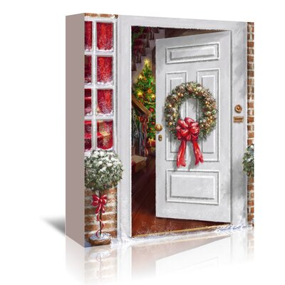 Americanflat 'Home Holiday Entrance' by Advocate Art Art Print Wrapped on Canvas