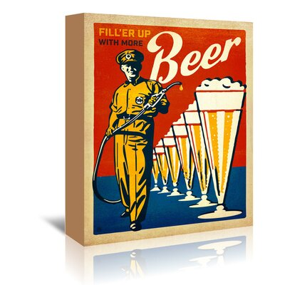 Americanflat 'Beer Filler Up' by Joel Anderson Vintage Advertisement Wrapped on Canvas