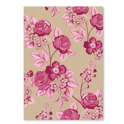 Americanflat 'Pink Floral' by Advocate Art Graphic Art
