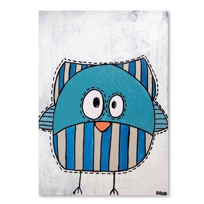 Americanflat 'Blue Birdk 2' by Annie Rodrigue Art Print