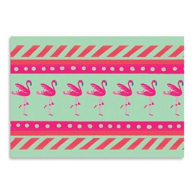 Americanflat 'Flamingo Layout' by Cara Kozik Graphic Art
