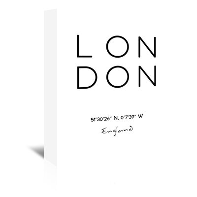 Americanflat 'LONDON' by Pop Monica Typography Wrapped on Canvas