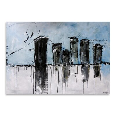 Americanflat 'City (1)' by Annie Rodrigue Art Print