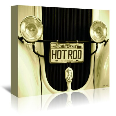 Americanflat 'Cali Hot Rod' by Graffi Tee Studios Photographic Print Wrapped on Canvas