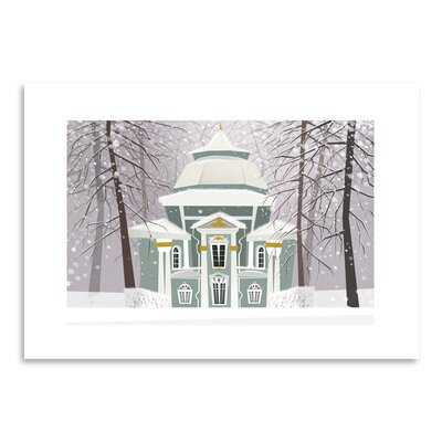 Americanflat 'A Winter Scene' by Advocate Art Graphic Art