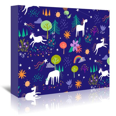 Americanflat 'Unicorns' by Advocate Art Graphic Art Wrapped on Canvas