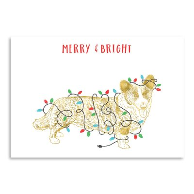 Americanflat 'Merry and Bright Dog' by Advocate Art Graphic Art