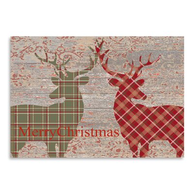 Americanflat 'Plaid Deer' by Advocate Art Graphic Art