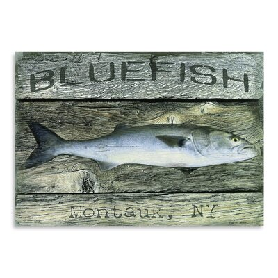 Americanflat Blue Fish' by Graffi Tee Studios Graphic Art