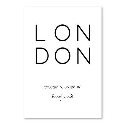 Americanflat 'LONDON' by Pop Monica Typography