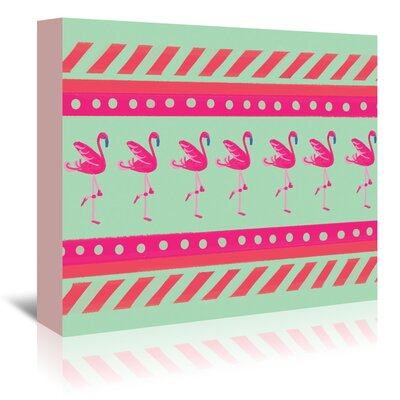 Americanflat 'Flamingo Layout' by Cara Kozik Graphic Art Wrapped on Canvas