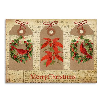 Americanflat 'Chritmas Gift Tags' by Advocate Art Graphic Art