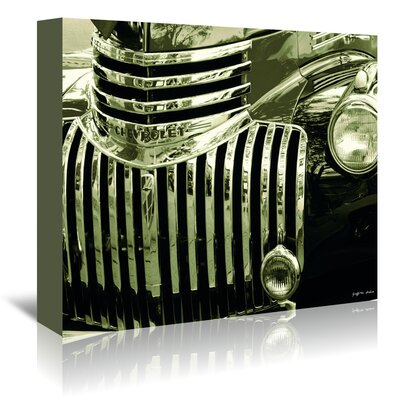Americanflat Chevy Front Grill' by Graffi Tee Studios Photographic Print Wrapped on Canvas