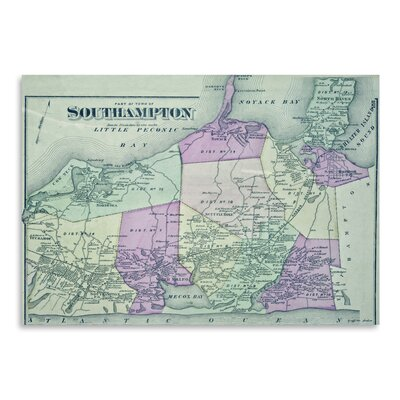 Americanflat South Hampton Ny Map' by Graffi Tee Studios Graphic Art