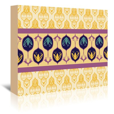 Americanflat 'Yellow Turkish Striped' by Cara Kozik Graphic Art Wrapped on Canvas