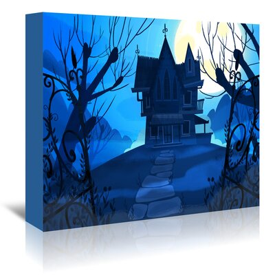 Americanflat Haunted House' by Advocate Art Graphic Art Wrapped on Canvas